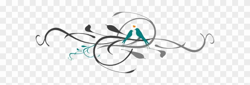 Teal Clipart Love Bird - Teal Love Birds Clipart #276583