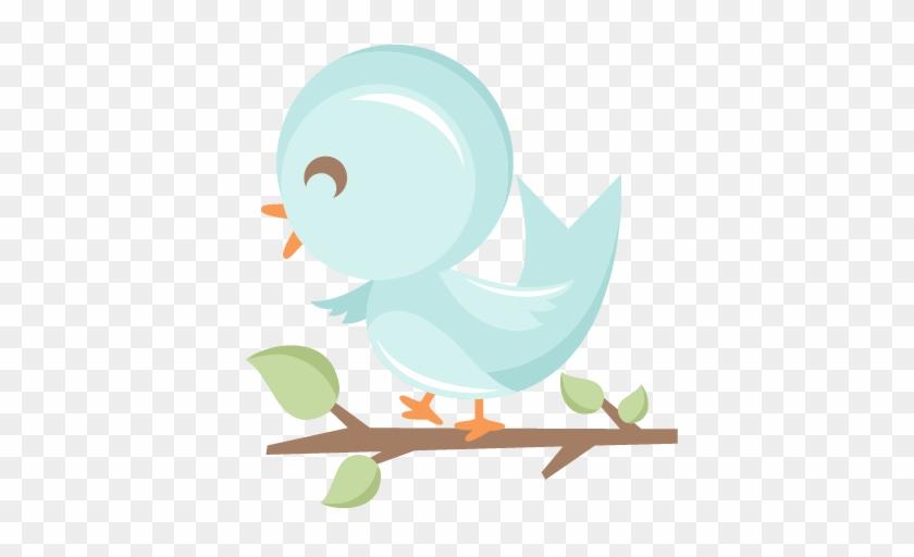 Cute Bird In Tree Svg Scrapbook Cut File Cute Clipart - Cute Bird Clipart Png #276603