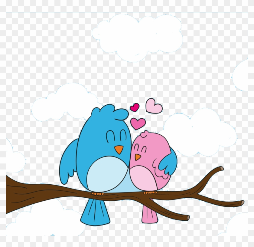 Love Birds Creative Cartoon Pictures - Cute Love Bird Cartoon #276625