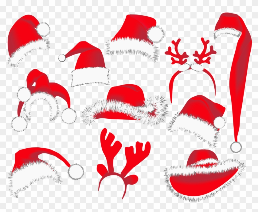 Christmas Hats Png Clipart Picture - Santa Hat Vector #276707