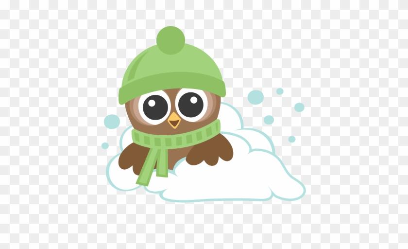 Winter Owls Svg Scrapbook Cut File Cute Clipart Files - Owl Clip Art Winter #276718