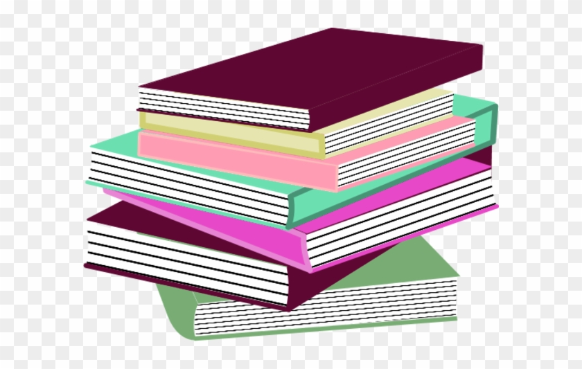 Stack Of Books Clip Art - Stack Of Books Pink #276927