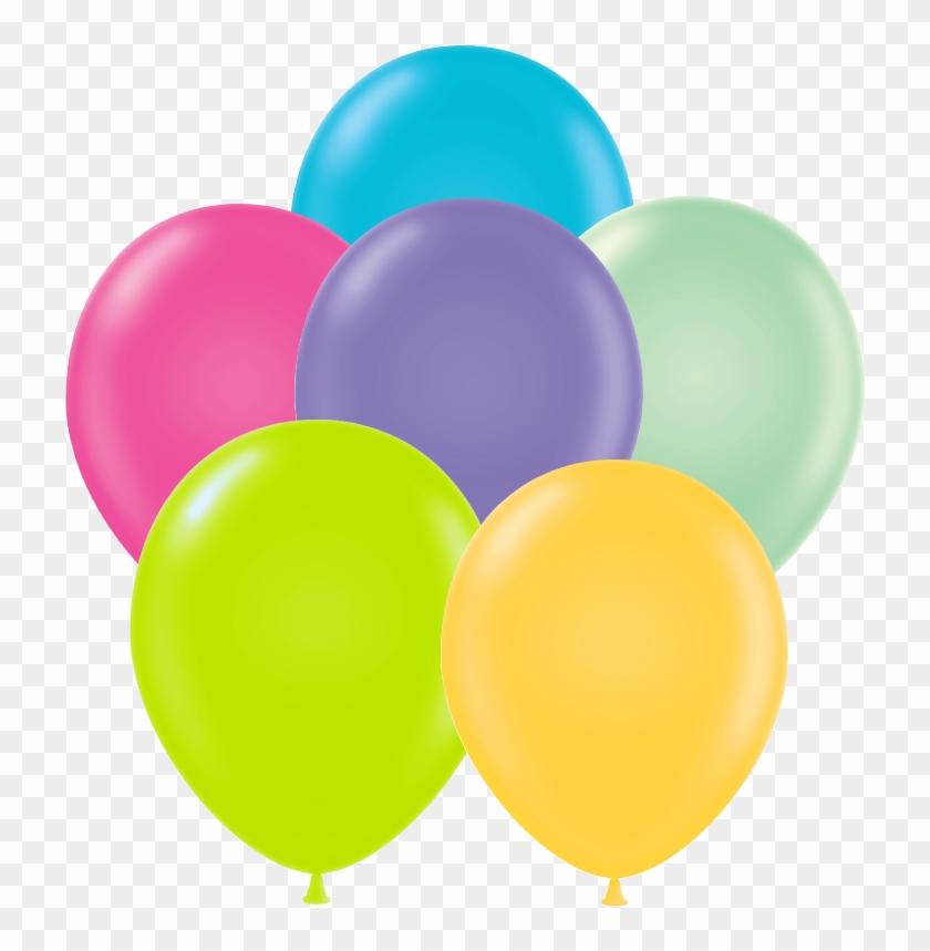 Tropical Assortment - Pink Yellow Green Balloons #277186