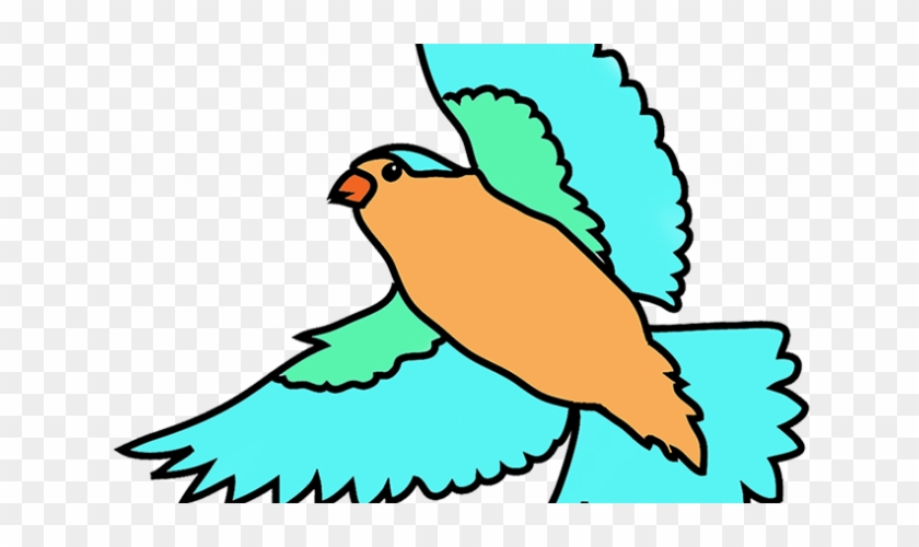 Colorful Flying Birds Png Colorful Bird Flying Drawing Free