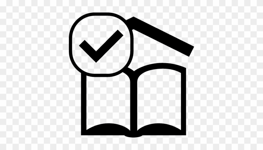 Open Book Reading Sign With Check Mark Vector - Book With Check Icon #277544