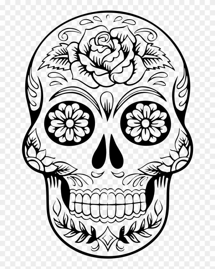 Clip Art Details - Sugar Skull Drawing #277559