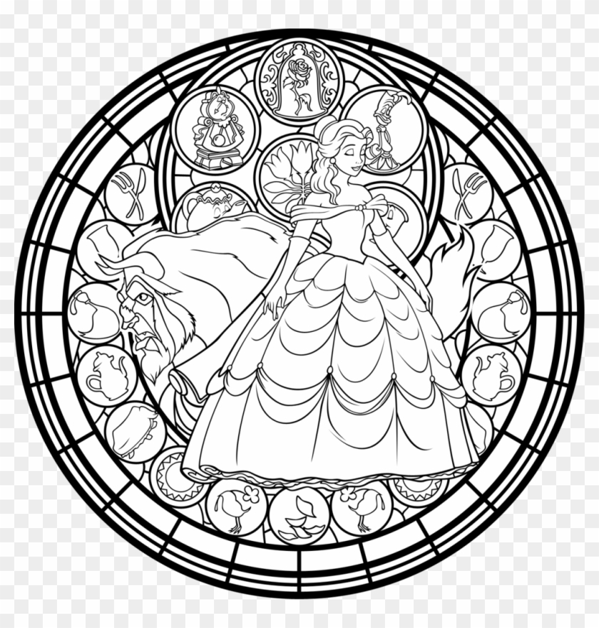 Drawn Glass Colouring Stain Glass Window Coloring Page Free