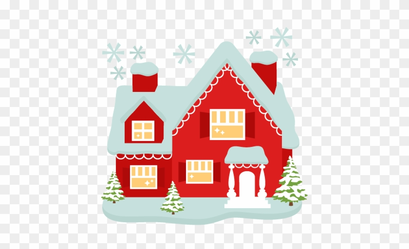 Santa S House Cut Files For Cricut Svg Cutting Files Cute Christmas House Free Transparent Png Clipart Images Download