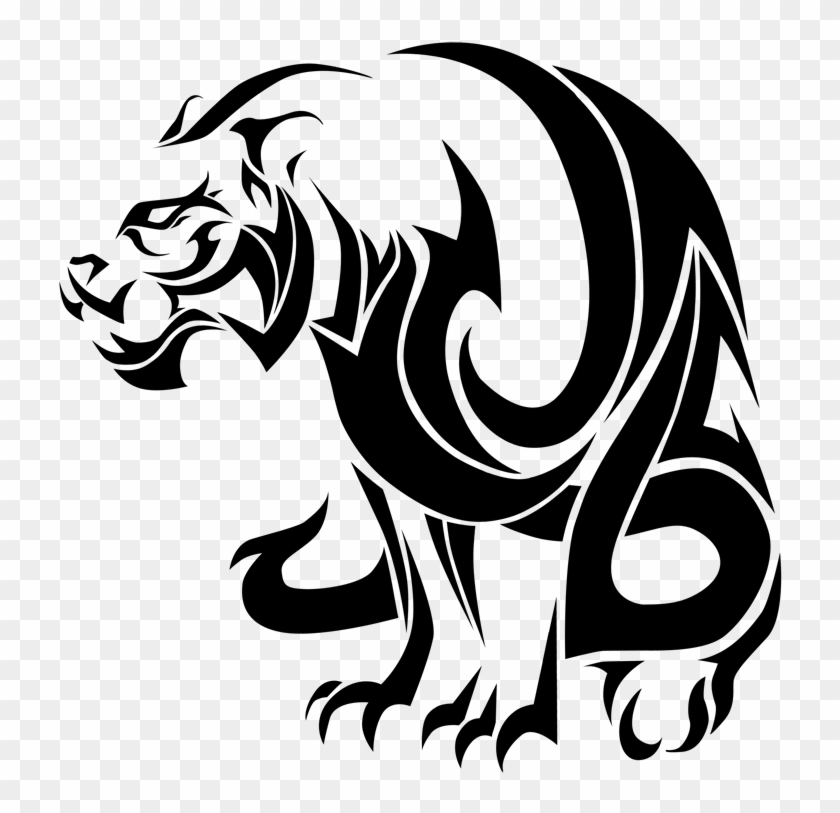 Tribal Style By Ice - Tribal Tattoo Design Panther #277861