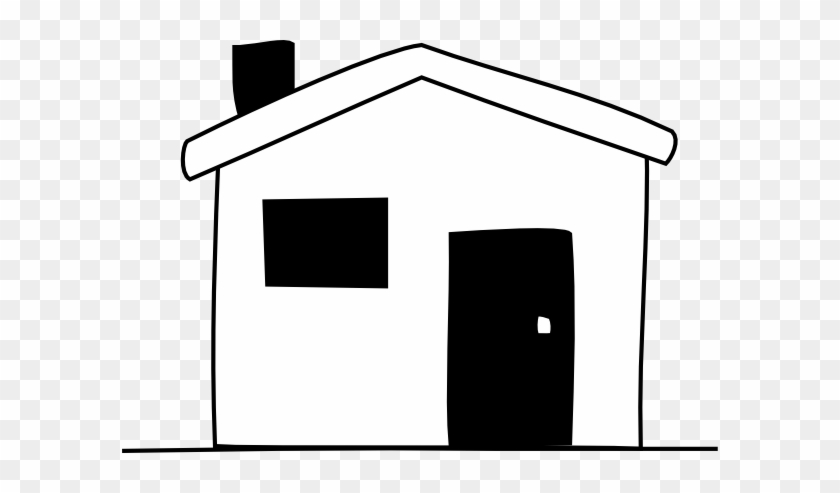 House Black And White School House Clip Art Free - House Easy Clipart #278153