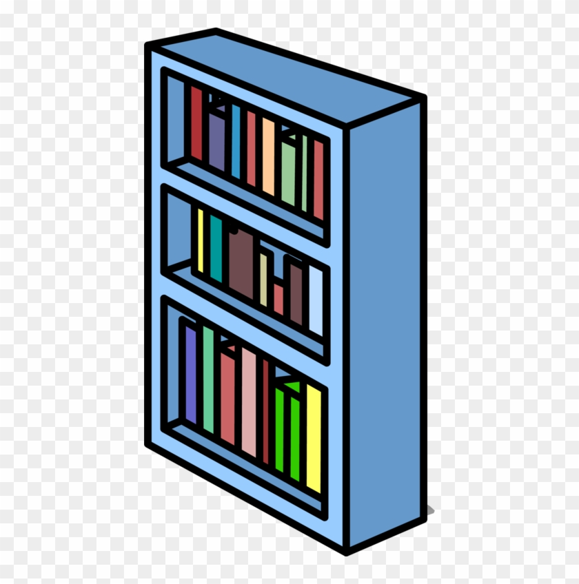 Blue Bookshelf Sprite 007