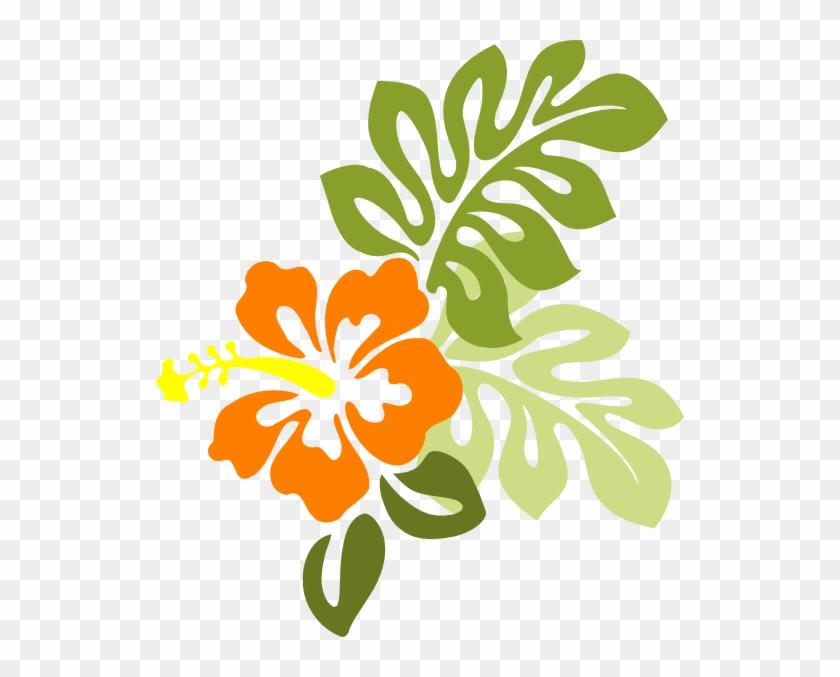 Orange Flower Clipart Hawaiian - Orange Hibiscus Flower Clipart #278159