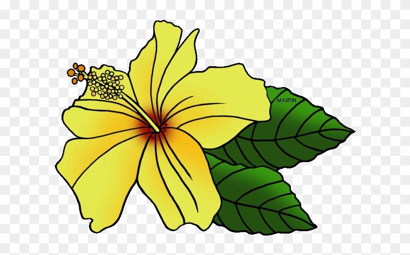 United Clip Art By Phillip Martin State Flower Hawaiian - Hawaii State Flower Clip Art #278175