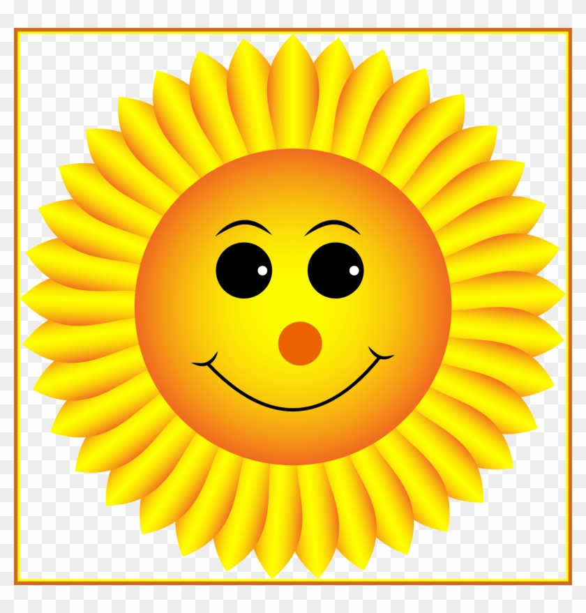Sun Flower Sunflower Clipart Png Incredible Sunflower - Sunflower With Smiley Face #278229