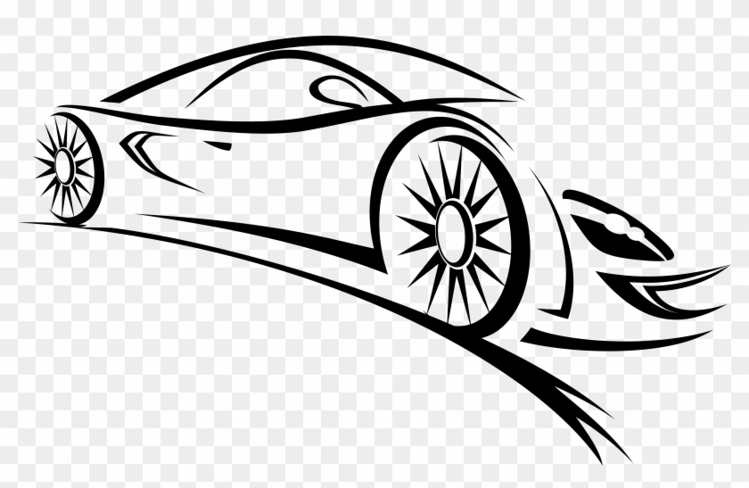 Sports Outline Car Png Clipart - Car Logo Vector Png #278247