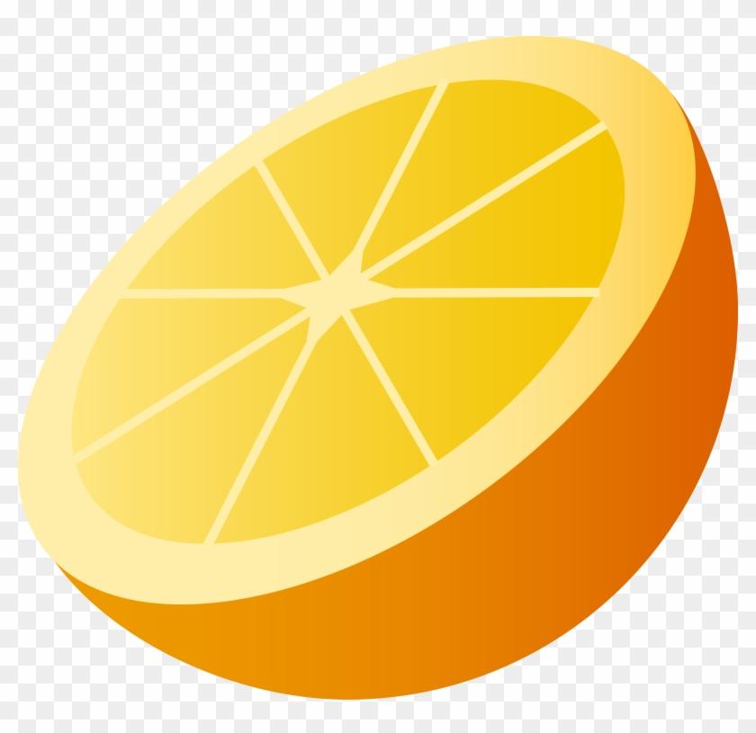 Orange - Half Clipart #278657