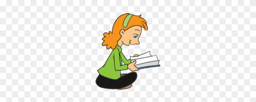 Free Book Exchange Clipart - Girl With A Book Cartoon #278694