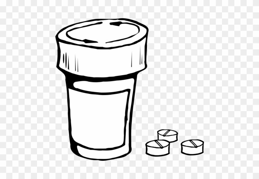 Vector Clip Art Of Pills And Bottle - Pill Bottle Clip Art #278747