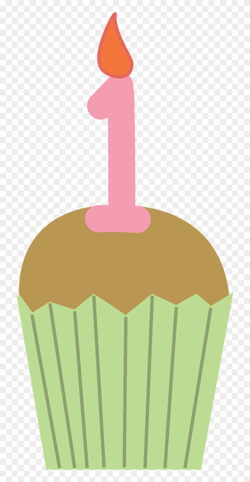 Birthday Cupcake Clipart - 1st Birthday Cupcake Clipart #278752