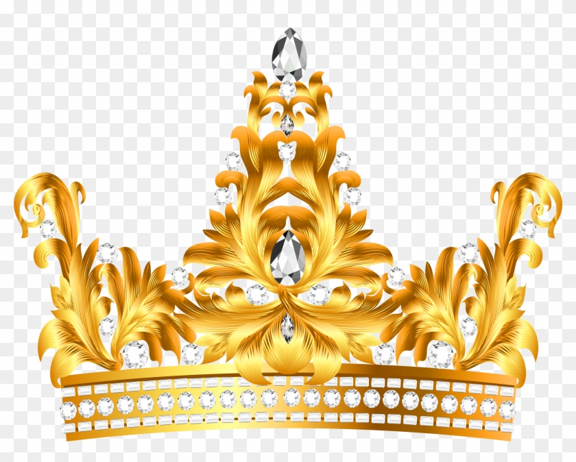 Gold And Diamonds Crown Png Clipart - Gold Princess Crown Png #278790