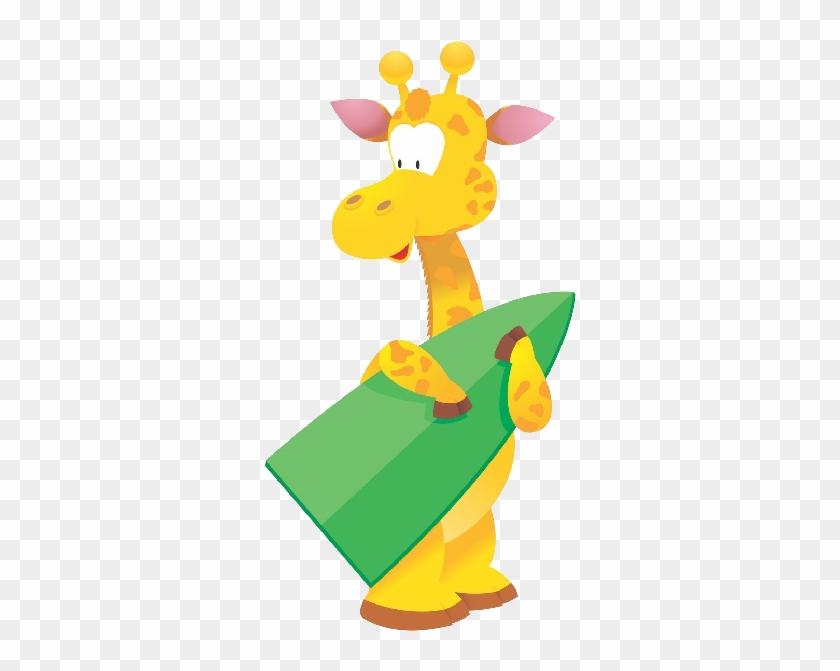 Giraffe Cartoon Animal Images - Giraffe Wall Stickers - Giraffe Wall Decal #278824