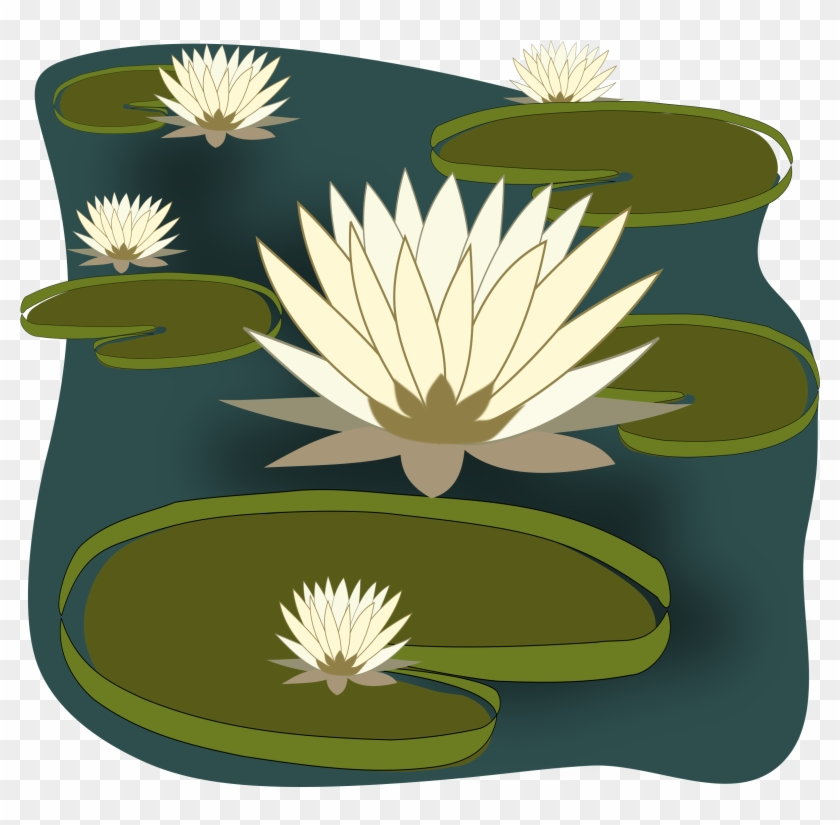 Water Lilies In A Pond Clip Art Free - Clip Art Of Water Lily #278832