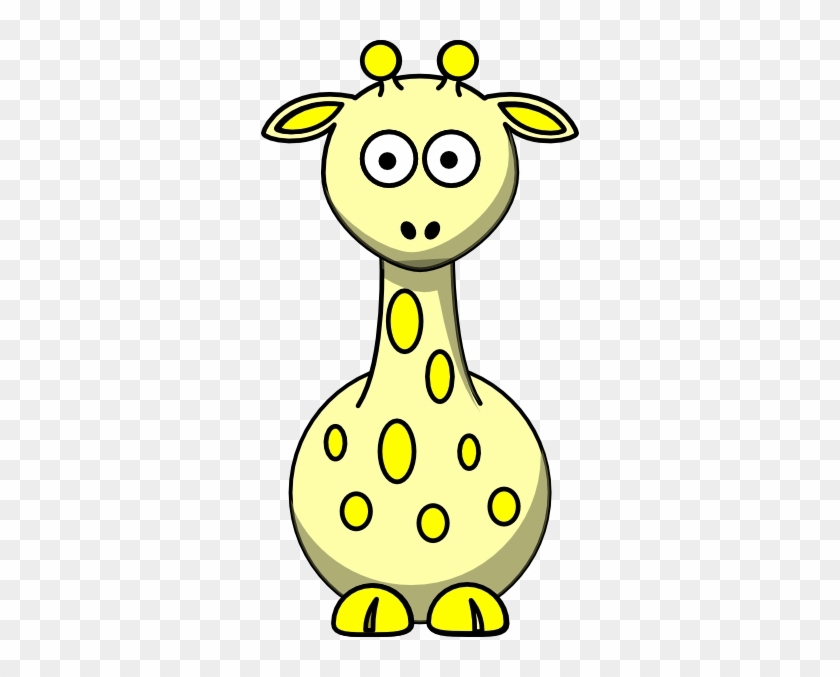 Giraffe Clipart Yellow Giraffe - Baby Giraffe Drawing Easy #279050