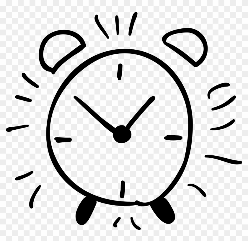 Drawn Clock Hand Png - Alarm Clock Outline #279478
