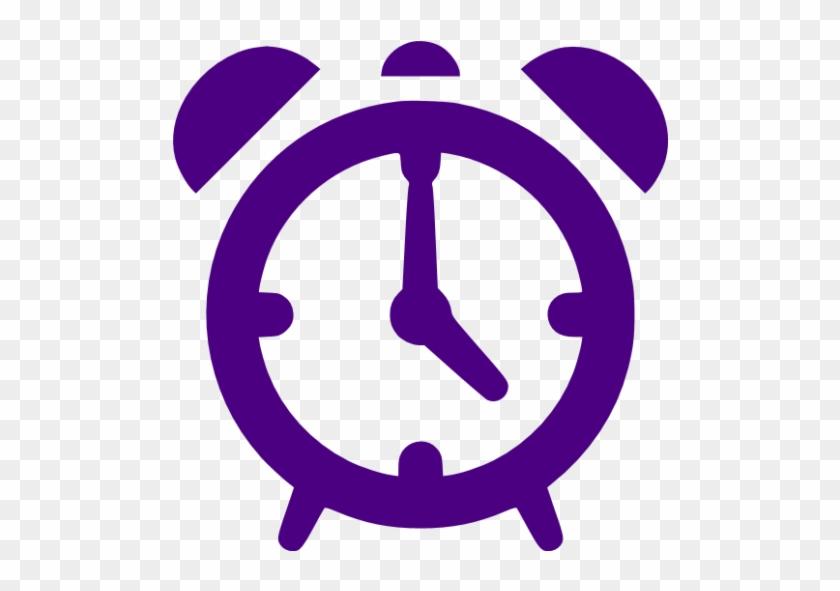 Indigo Alarm Clock Icon - Alarm Clock Icon Png #279755
