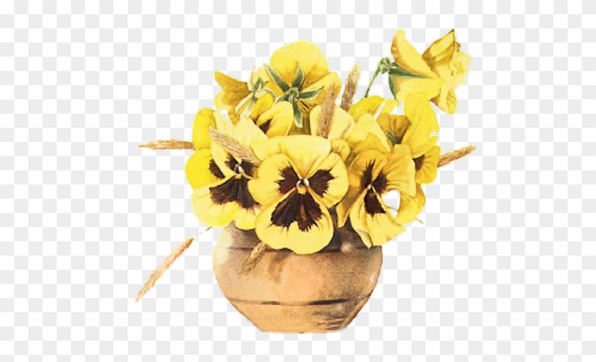 09 21 2016 Yellow Pansies In Round Brass Toned Bowl Gifs Animes