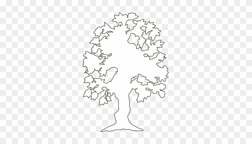 Black, Simple, Outline, Drawing, Silhouette, Tree - Outline Of A Tree #279832