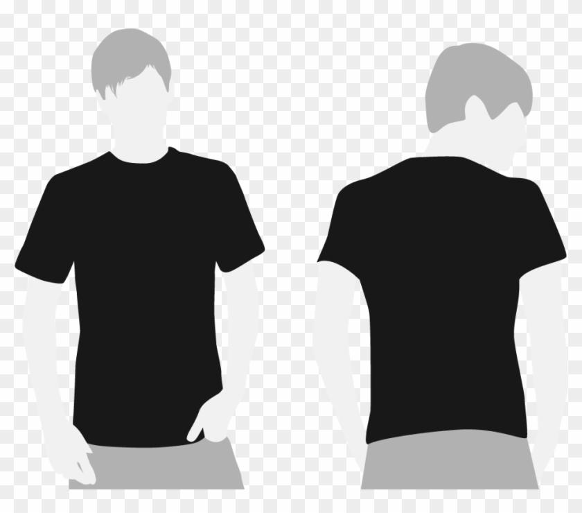 Black T Shirt With White Design | Black Tshirt Template T Shirt Design Black Free Transparent Png