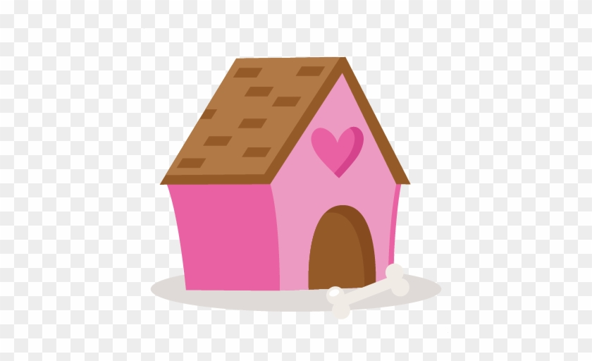 Valentine Puppy Dog House Svg Scrapbook Cut Cute Pink Dog House