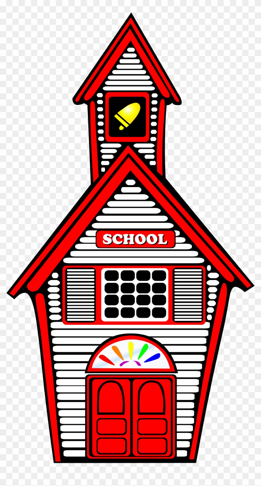 Schoolhouse Clipart Kcn7lnmcq Pictures Whiteschoolhouse - School Building Clip Art #280034