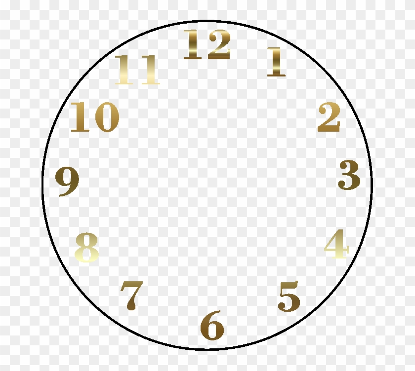 Clock Face Digital Clock Time Clip Art - Clock Face Clip Art #280099