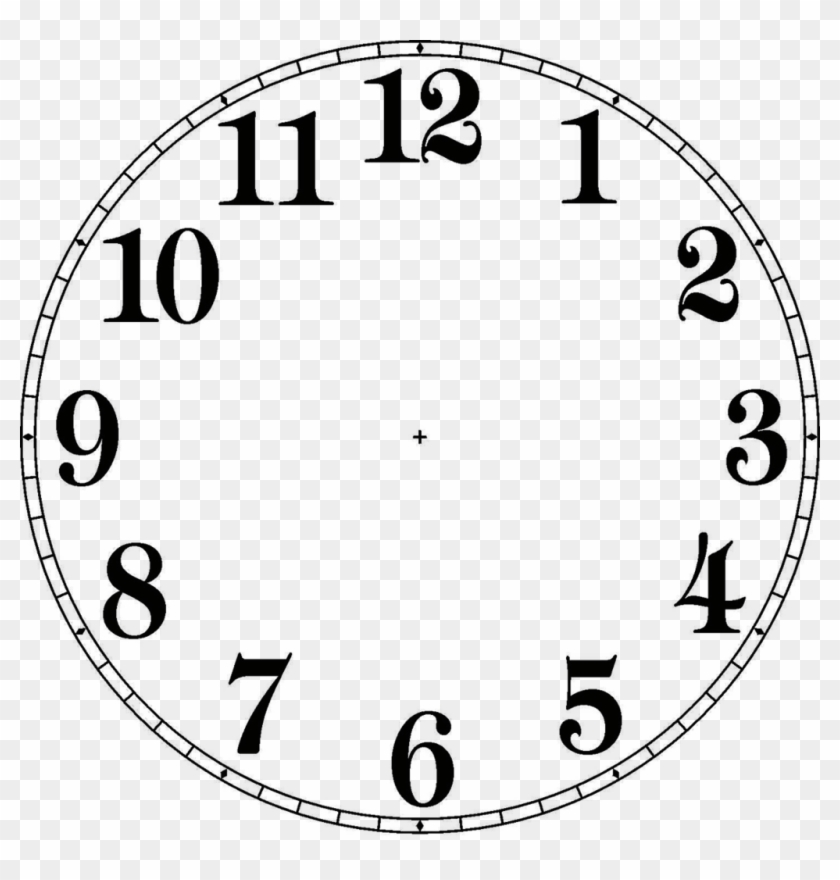 Drawn Clock Clock Face - Clock Face Pdf #280134