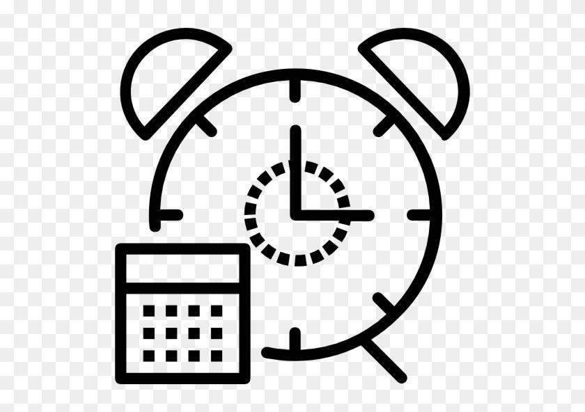 Alarm Clock Free Icon - Alarm Clock Lineart Png #280256