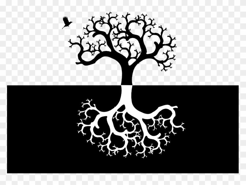Albero Della Vita Yin E Yang - Tree And Roots Symmetrical #280510