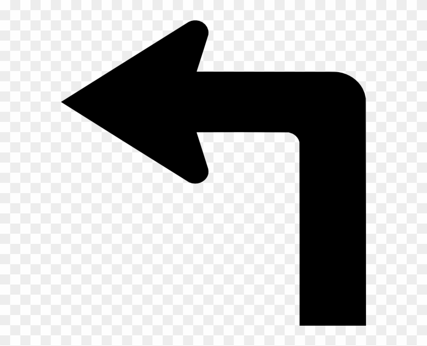 Turn Left Arrow Vector #280658