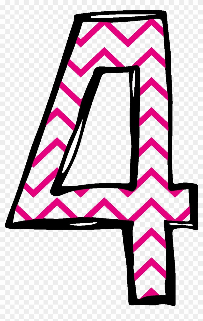 4 Clip Art - Cute Number 4 Png #280665