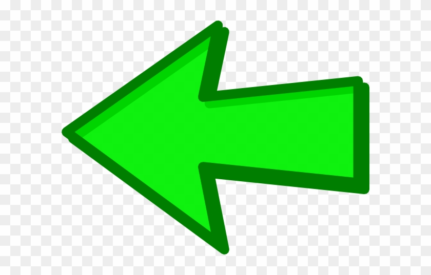 Green Arrow Green Left Clip Art At Clker - Left Green Arrow Png #281054