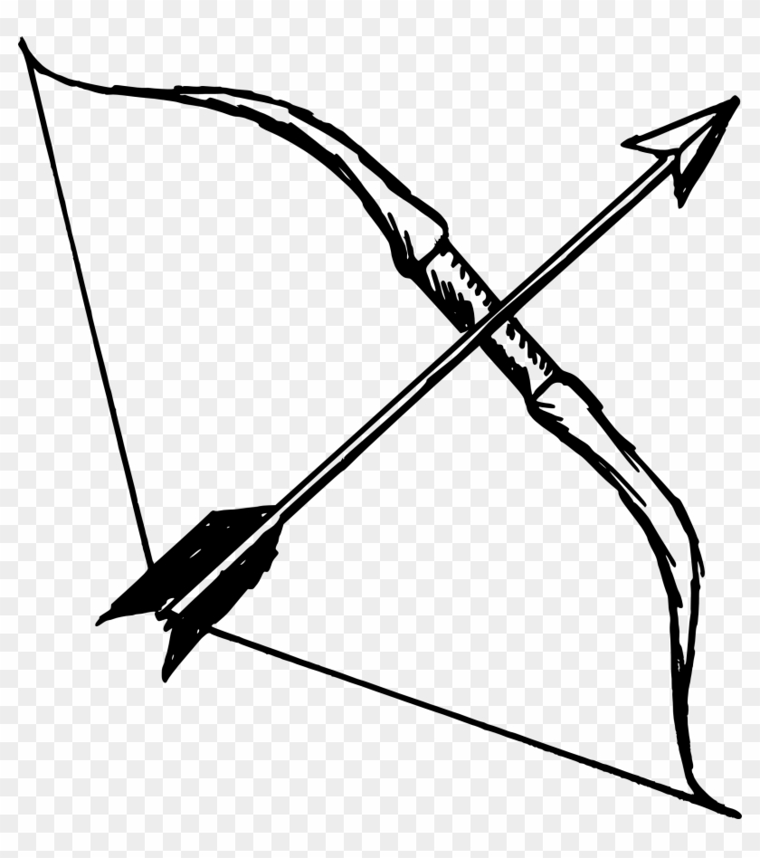 Image Of Bow And Arrow - Bow And Arrow Drawing #281085