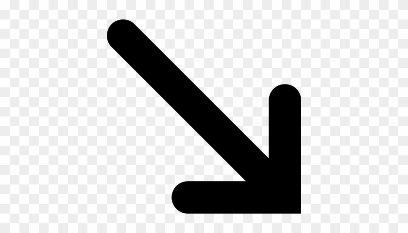Arrow Pointing Down Right Vector - Arrow Pointing Down Right #281145