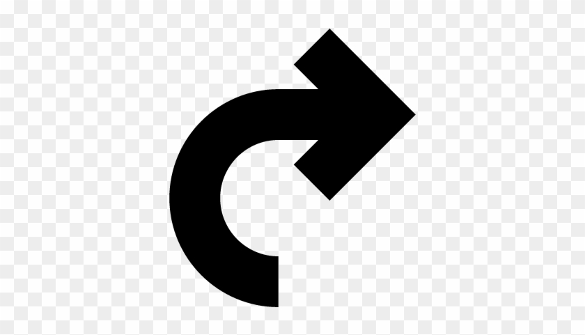 Curved Arrow Pointing To Right Vector - Curved Arrow To The Right #281201