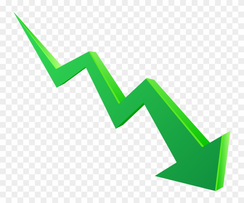 Graph Clipart Arrow Png - Arrow Going Down Png - Free