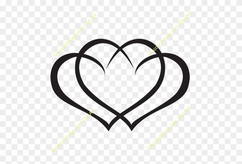 Clipart 12059 Interlocking Hearts - 3 Interlocking Hearts Tattoos #281365
