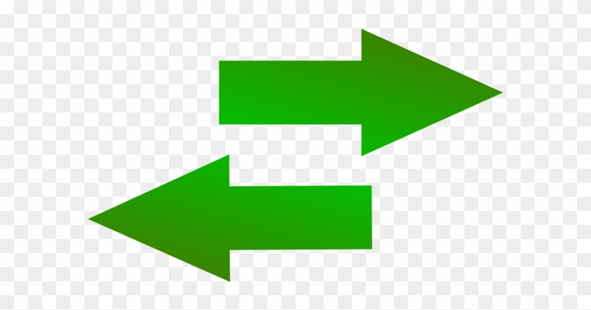 Right Green Arrow Icon - Arrow Right And Left #281446