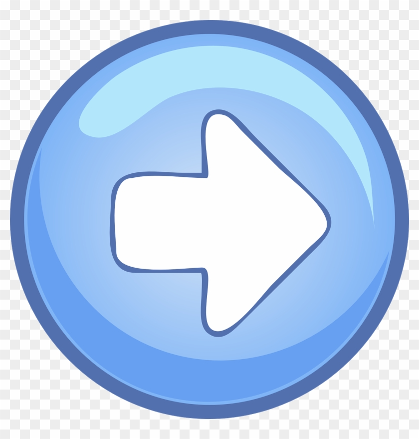 Buttons Computer, Right, Blue, Arrow, Button, Round, - Right And Left Arrow Png #281504