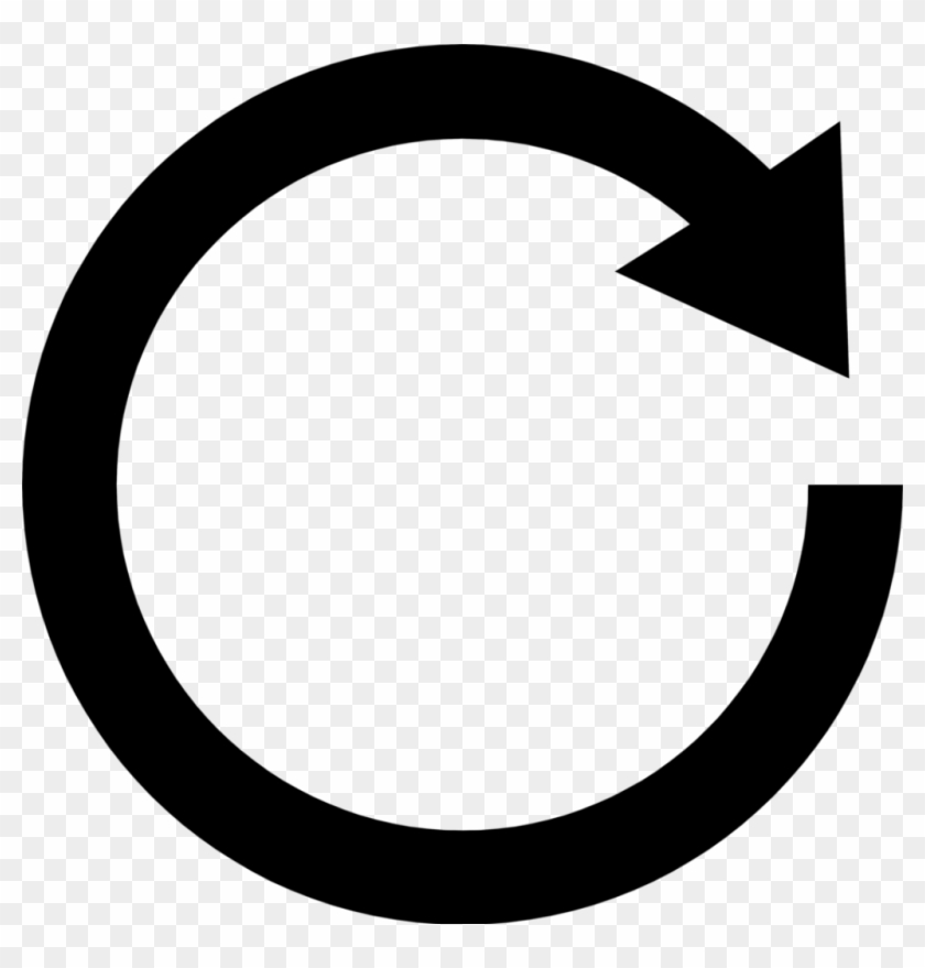 Black Free Stock Photo Illustration Of A Black Circular - White Arrow In Circle #281615