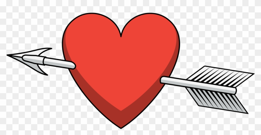 Heart Arrow Shaded Arrow Through Heart Png Free Transparent Png